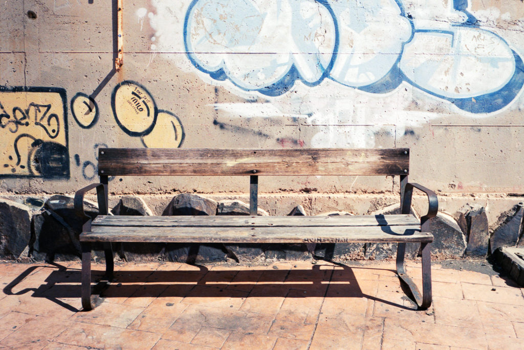 Bench & Graffiti, Agfa Vista 200, Leica M6 TTL